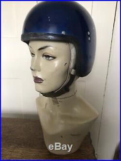 1960s Everoak Crash Helmet Open Face XS Extra Small