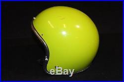1970's Motorcycle Helmet Arthur Fulmer AF20 Apple Green Open Face