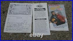 1980 BELL MAGNUM Motorcycle HELMET Open Face BLACK 7 1/4 w XFM1 BOX & paperwork