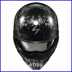 2021 Scorpion EXO Covert X DigiCamo Open Face Motorcycle Helmet Grey/Black