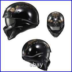 2021 Scorpion EXO Covert X Kalavera Open Face Motorcycle Helmet Black/Gold