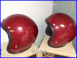 (4) Vintage ALL SPORT BUCO Motorcycle Helmets Full Face withShield Visor Open Face