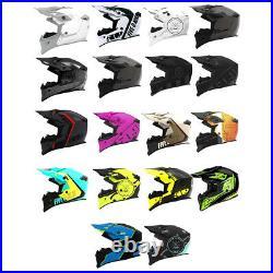509 Tactical Open Face Helmet DOT ECE Certified Lightweight Snowmobile Snocross