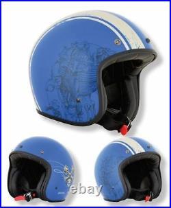 AFX Low Profile Raceway Open Face Motorcycle Bobber Cruiser Helmet