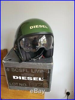 AGV Diesel Hi Jack Black / Green / SK-Y 78 Open Face Motorcycle Helmet XL