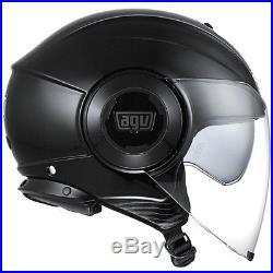 AGV Fluid Motorbike Motorcycle Open Face Helmet Gloss Black