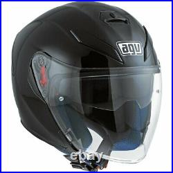 AGV K-5 Jet Matte Flat Black Open Face Motorcycle Helmet New! Free Shipping