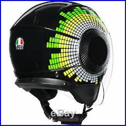 AGV Orbyt Ginza Open Face Motorbike Motorcycle Urban Helmet Black Yellow Green