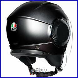 AGV Orbyt Open Face Motorbike Motorcycle Urban Helmet Matt Black