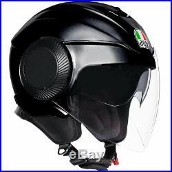 AGV Orbyt Solid Matt Black Open Face Scooter Motorcycle Helmet