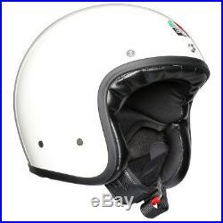 AGV X70 Open Face Retro Vintage Motorcycle Motorbike Helmet Solid Mono White