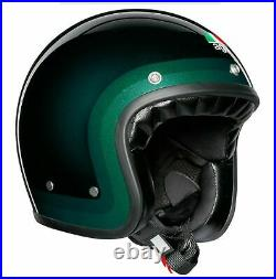 AGV X70 Trofeo Open Face Retro Green Motorbike E-Scooter Helmet size Ms 56cm NEW