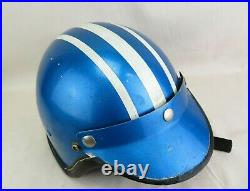 ARAI HIROTAKE 1950's Vintage Japan Open Face Motorcycle Helmet Striped Leather M