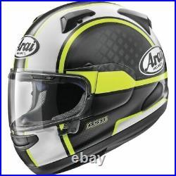 ARAI Quantum X Full Face Motorcycle Helmet Take Off Yellow Large Open Box Sale