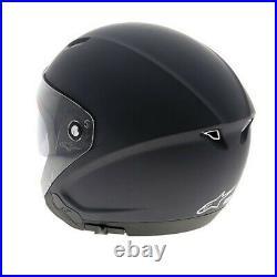 Alpinestars Novus Motorcycle Motorbike Open Face Helmet Matt Black
