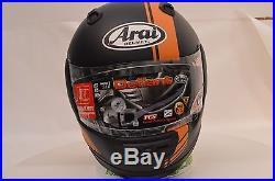 Arai Defiant Base Orange Full Face Motorcycle Helmet 2XL Open Box 818825
