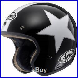 Arai Freeway 2 Freerider Open Face Motorcycle Crash Helmet Black Star Large 60cm