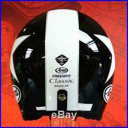 Arai Freeway Classic Open Face Motorcycle Helmet Black/White Extra Large (XL)