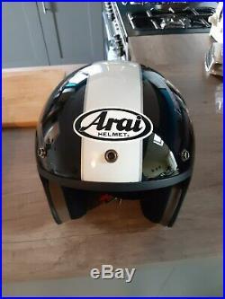 Arai Freeway MOD STAR open face helmet black and white stripe