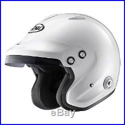 Arai GP-JET/3 Open Face Snell 2015 Approved Racing/Rally Helmet/Lid In White