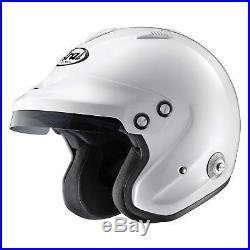 Arai GP-Jet 3 Open Face Snell 2015 Approved Race/Racing/Rally Helmet/Lid White
