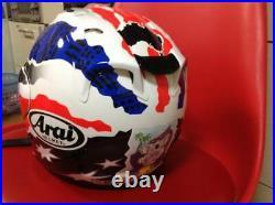 Arai Genuine Oem Mick Doohan Graphic Color Open Face Helmet L Size