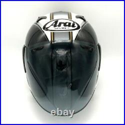 Arai Genuine Oem Sz-f Retro Black & White Open Face Helmet L Size Smoke Shield