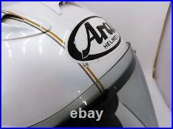 Arai Genuine Oem Sz-ram4 Cafe Racer Graphic White Open Face Helmet L Size