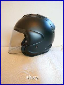 Arai Genuine Oem Vz-ram Flat Black Open Face Helmet XL Size