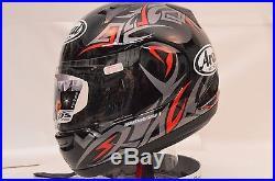 Arai RX-Q Groove Red Sport Full Face Motorcycle Helmet Lg 807193 Open Box