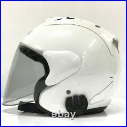 Arai Raw4 SZ White Motorcycle Open Face Helmet Size XL 61/62cm HS