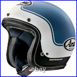 Arai Urban V Open Face Motorcycle Motorbike Helmet Era Blue