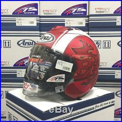 Asian fit Arai Open Face Helmet SZ-RAM4X RAM-X KODO RED Casque casco Helmet