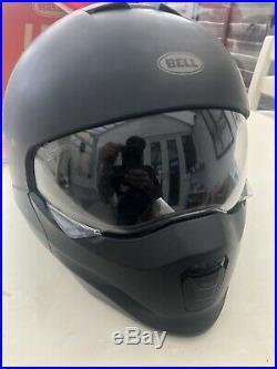 BELL 2020 BROOZER Full & Open Face P/J Street Motorbike Helmet Matt Black Xl