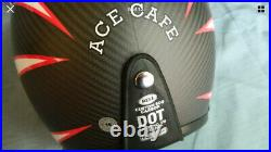BELL CUSTOM 500 CARBON Open-Face Motorcycle Helmet Ace Cafe Ton Up Sz SMALL NEW