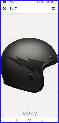 BELL CUSTOM 500 Large THUNDERCLAP OPEN FACE Helmet, SHIELD, PEAK & BAG