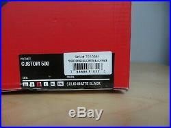 BELL CUSTOM 500 MATTE BLACK SOLID OPEN FACE RETRO HELMET MEDIUM inc VAT