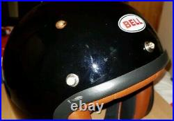 BELL Classic Open Face Motorcycle Helmet (Brand New With Defect Black Medium)
