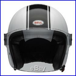 BELL Cruiser 2020 RIOT Rapid Gloss White/Black Open Face Motorcycle Helmet