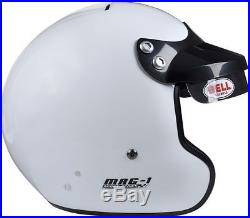 BELL HELMET MAG-1 size L 60-61 cm WHITE OPEN FACE RALLY COMPOSITE FIA SNELL
