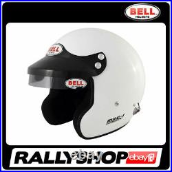 BELL HELMET MAG-1 size M 58-59 cm WHITE OPEN FACE RALLY HANS COMPOSITE FIA SNELL