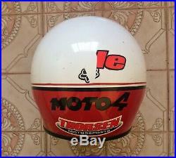 BELL MOTO 4 RACING motorcycle helmet ex condition open face motocross 7 3/8