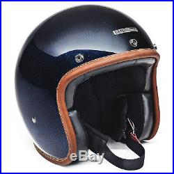 BMW Motorrad Bowler Open Face Crash Helmet Blue