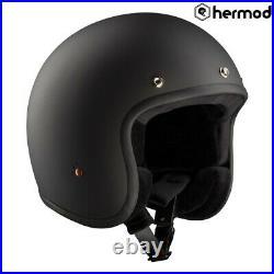 Bandit Jet ECE Low Profile Open Face Helmet Matt Black