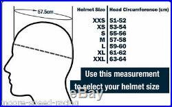 Bandit Jet Motorcycle Helmet ECE open face 3 snap custom retro Black race orange