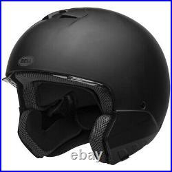 Bell Broozer Motorcycle Helmet DOT Full/Open Face Matte Black Size LRG
