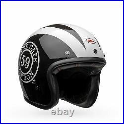 Bell Custom 500 Ace Cafe 59 Open Face Motorcycle Helmet Black/White