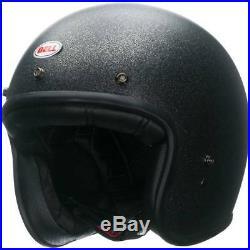 Bell Custom 500 Black Flake Open Face Helmet Motorcycle Motorbike L XL XXL