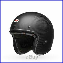 Bell Custom 500 Carbon Matte Open Face Motorbike Motorcycle Helmet Size LARGE L