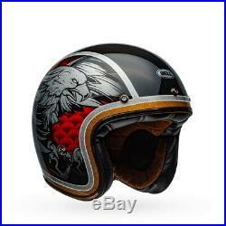 Bell Custom 500 Carbon Osprey Open Face Helmet Gloss Black